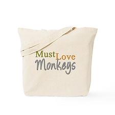 MUST LOVE Monkeys Tote Bag