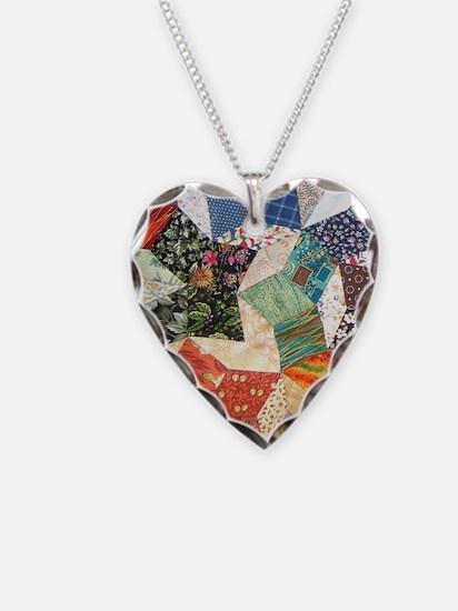 Tumbling Block Patchwork Quilt Necklace