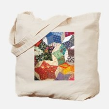 Tumbling Block Patchwork Quilt Tote Bag