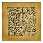 Celtic Letter F Square Car Magnet 3