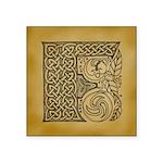 Celtic Letter F Square Sticker 3