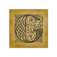 "Celtic Letter G Square Sticker 3"" x 3"""