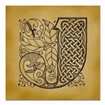 Celtic Letter J Square Car Magnet 3