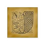 Celtic Letter J Square Sticker 3