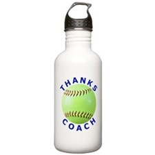 Softball Coach Thank You Unique Gifts Sports Water Bottle