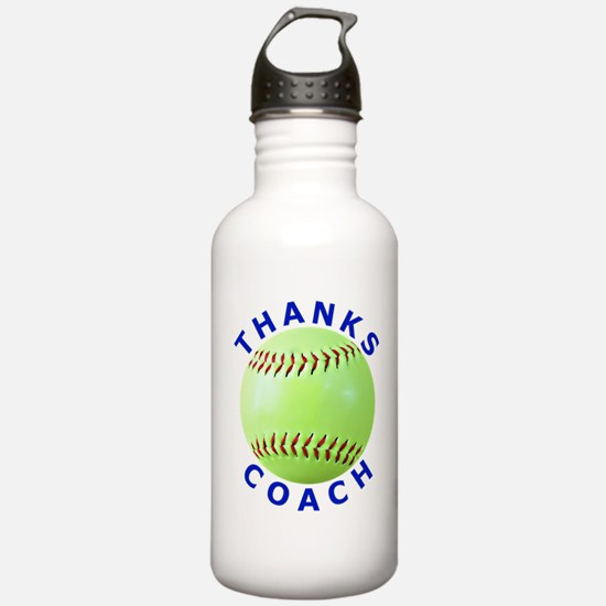 Softball Coach Thank You Unique Gifts Water Bottle