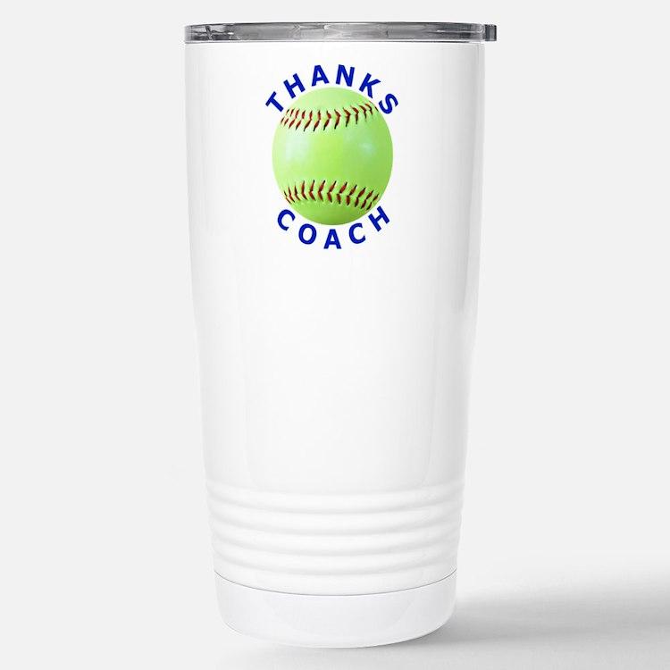 Softball Coach Thank You Unique Gifts Travel Mug