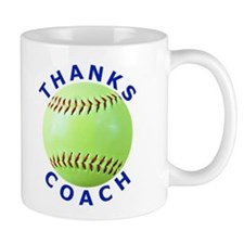 Softball Coach Thank You Unique Gifts Small Mug