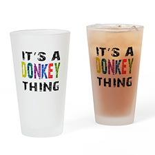 Donkey THING Drinking Glass