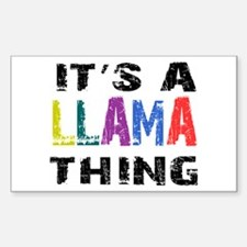 Llama THING Decal