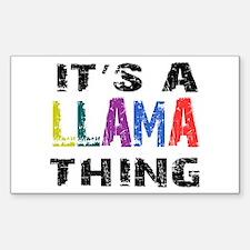 Llama THING Sticker (Rectangle)
