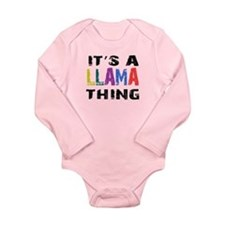Llama THING Long Sleeve Infant Bodysuit