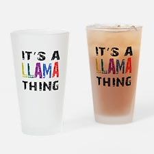 Llama THING Drinking Glass