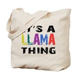 Llama Regular Canvas Tote Bag