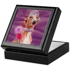 Italian Greyhound It's good 2 B Queen Keepsake Box