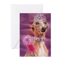 Italian Greyhound It's good 2 B Queen Cards