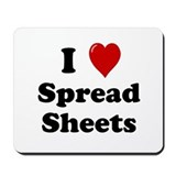 I love spreadsheets Mouse Pads