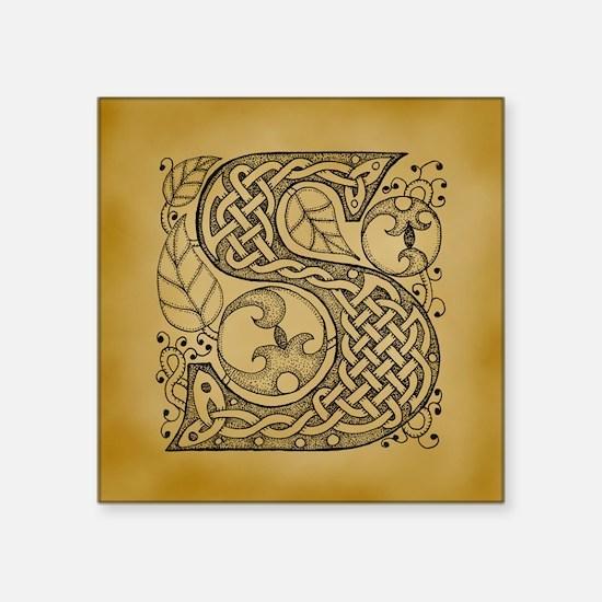 "Celtic Letter S Square Sticker 3"" x 3"""