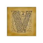 Celtic Letter V Square Sticker 3