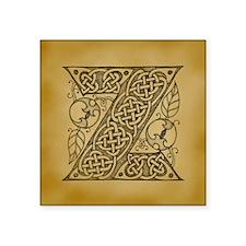 "Celtic Letter Z Square Sticker 3"" x 3"""