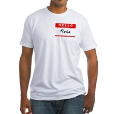 Tisha, Name Tag Sticker Shirt