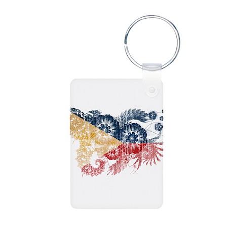 Philippines Flag Aluminum Photo Keychain