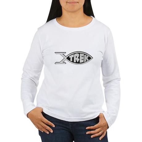 trek fish star trek design Women's Long Sleeve T-S