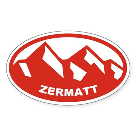 Zermatt Sticker (Oval)