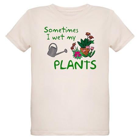 I Wet My Plants Organic Kids T-Shirt