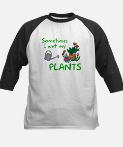 I Wet My Plants Kids Baseball Jersey