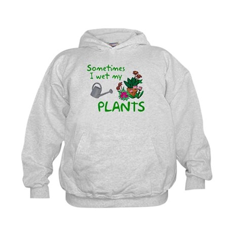 I Wet My Plants Kids Hoodie