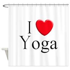 I Love Yoga Shower Curtain