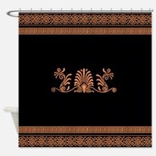 Ancient Greek Floral Pattern Shower Curtain