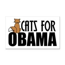Cats for Obama Rectangle Car Magnet