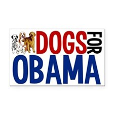Dogs for Obama Rectangle Car Magnet