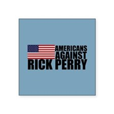 "Anti Rick Perry Square Sticker 3"" x 3"""