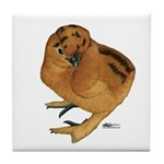 Red Silkie Chick Tile Coaster