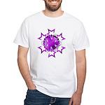 Purple Stars White T-Shirt