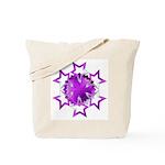 Purple Stars Tote Bag