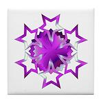 Purple Stars Tile Coaster