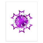 Purple Stars Small Poster