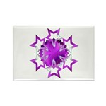 Purple Stars Rectangle Magnet (10 pack)