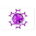 Purple Stars Postcards (Package of 8)
