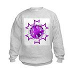 Purple Stars Kids Sweatshirt