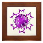 Purple Stars Framed Tile
