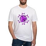 Purple Stars Fitted T-Shirt
