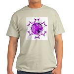 Purple Stars Ash Grey T-Shirt
