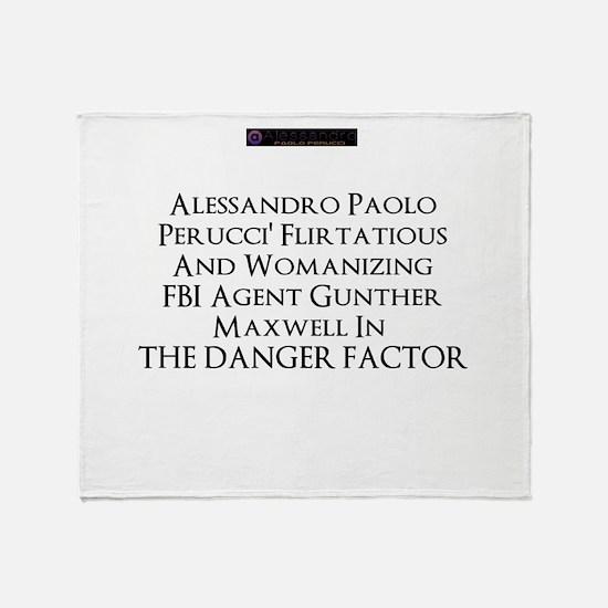2013 novel The Danger Factor Throw Blanket