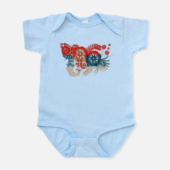 Serbia Flag Infant Bodysuit