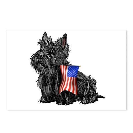 4th of July Scottie Postcards (Package of 8)
